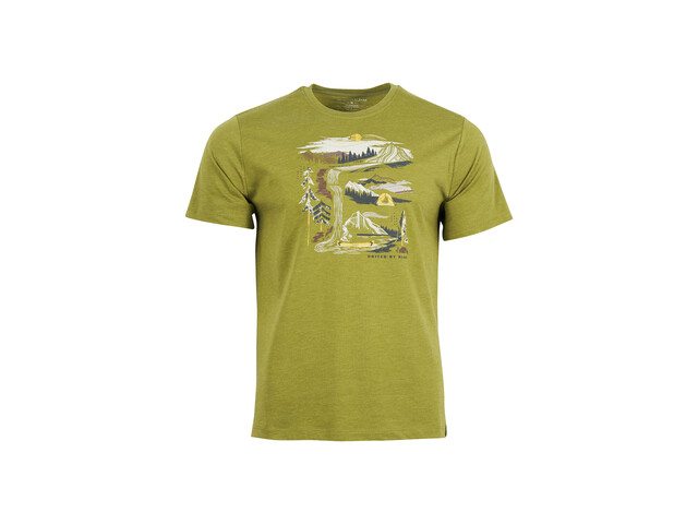 United By Blue Riverbend T-shirt à motif Homme, lilypad green